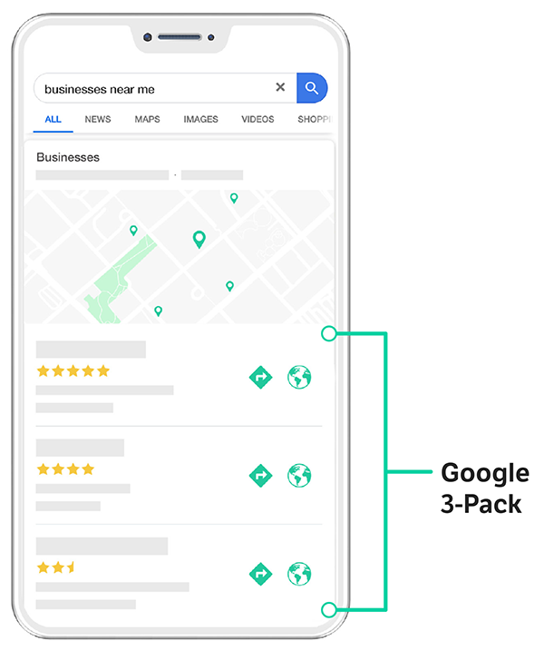 Google 3-pack phone screenshot